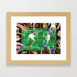 'Match Point' Framed Art Print