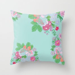 Petite Hand Drawn Collection Bouquet Throw Pillow