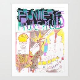 """Crabapples in the Century's Storm"" / Frontier Ruckus Song Illustrations, Series 1 (9/15) Art Print"