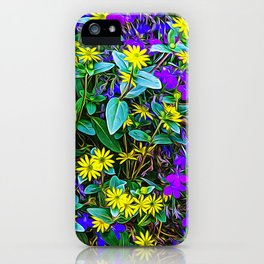 Coloured flowers in the Alps iPhone Case