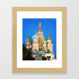 Colorful Moscow church Framed Art Print