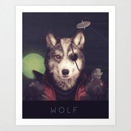Star Team - Wolf Art Print