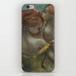 """Edgar Degas """"Two dancers - half-length"""" iPhone Skin"""