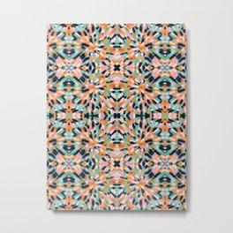 Paint Burst Geometric Metal Print