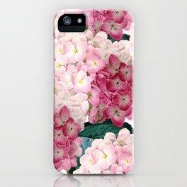 Pink Hydrangea iPhone Case