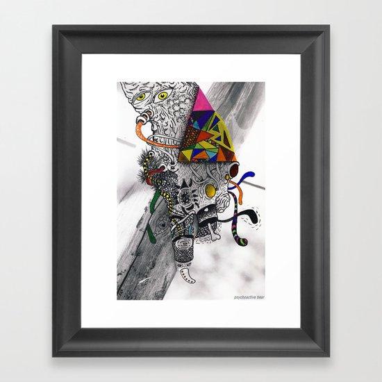 Psychoactive Bear 7 Framed Art Print