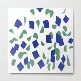 scatter geometric brush blue gray Metal Print