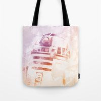 r2d2 Tote Bags featuring R2D2 by eARTh