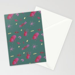 Insects are coming to town / Pink + Gold / Stationery Cards