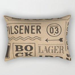 Type beer Rectangular Pillow