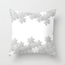 Puzzle white Throw Pillow