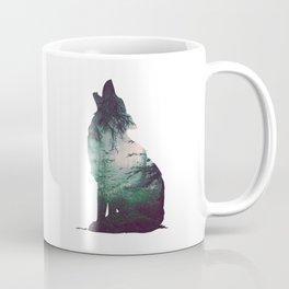 Dark forest and wolf Coffee Mug
