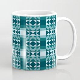 Fresh and Bright Aztec Pattern Deep Ocean Wave Seafoam Aqua Coffee Mug