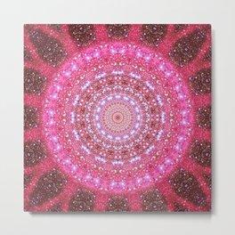 Star Cluster Mandala Metal Print