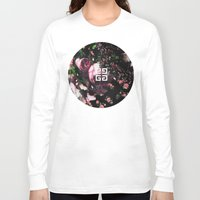 givenchy Long Sleeve T-shirts featuring Givenchy all over flower and camo printed nightingale  with detachable shoulder strap and one int by Le' + WK$amahoodT Boutique by Paynasa®