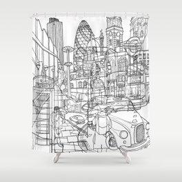 London! Shower Curtain