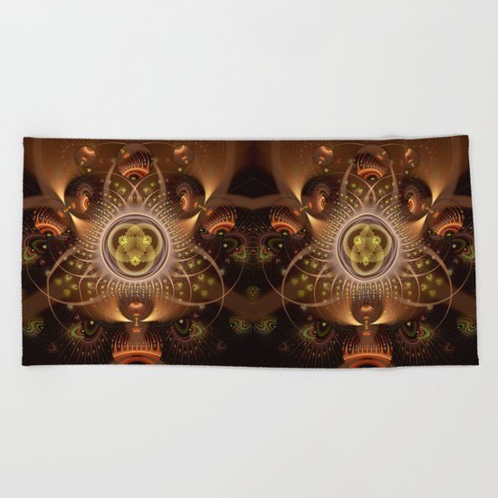 Copper Cosmos Beach Towel