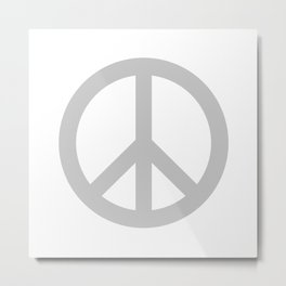 Peace (Gray & White) Metal Print