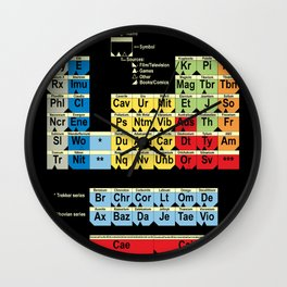 Periodically Fictional Table Wall Clock