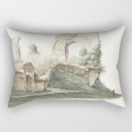 Neros Aqueduct in Rome (ca 1809-1812) by Joseph August Knip Rectangular Pillow