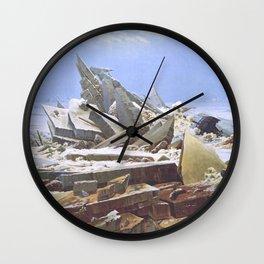 The Sea of Ice - Caspar David Friedrich Wall Clock