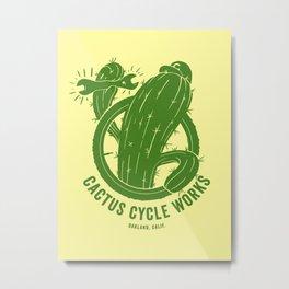 Cactus Cycle Works Metal Print
