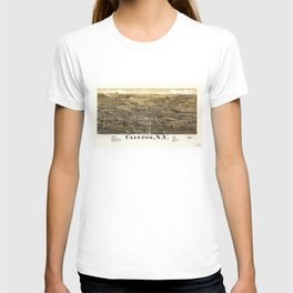 Aerial View of Clinton, New York (1885) T-shirt