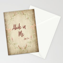 Abide in Me Bible Verse Stationery Cards