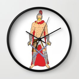 Gladiator Warrior 1 Wall Clock