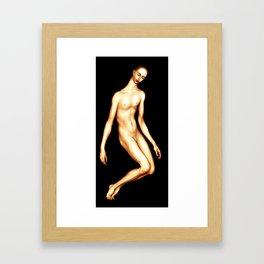 Fluid figure Framed Art Print