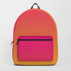 Ombre | Pink and Orange Backpack