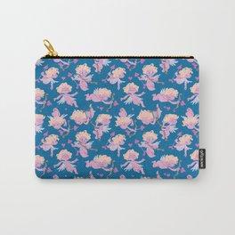 Valentine Cherubs pattern (in blue) Carry-All Pouch