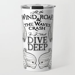 Dive Deep - Black and White Travel Mug