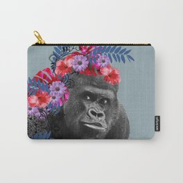 Gorilla Head Fantasy Hibiscus Flowers Monstera Leaves Carry-All Pouch