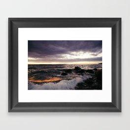The Shoulders Of Waves Framed Art Print