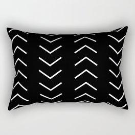 White Arrows Rectangular Pillow