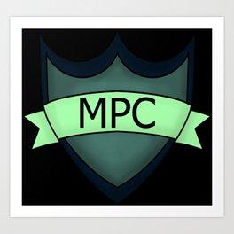 Multiplayer Community Logo Black Art Print
