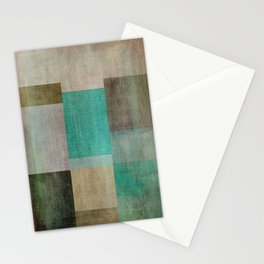 Abstract Boxes Art Stationery Cards