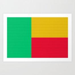 Benin Flag (Patchwork Look) Art Print