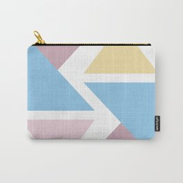 Geometric triangle pastel origami Carry-All Pouch