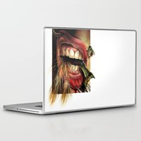 tomb raider Laptop & iPad Skins featuring Animal Tomb  by amanda chervinko