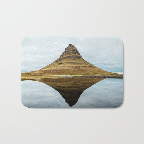 Mountain reflect Bath Mat