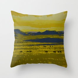 Saskatchewan Travel Poster Throw Pillow