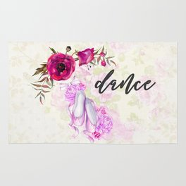Dance with Ballet Shoes with a Floral Poppy Frame Rug