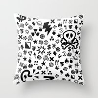 shit Throw Pillows featuring Shit by VineDesign