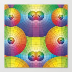 Rainbow Pretty Circles Color Wheel Awesome Thing Canvas Print