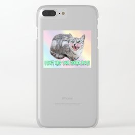 I DON'T NEED YOUR GENDER ROLES - kitter Clear iPhone Case