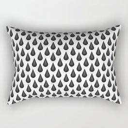 Ink Droplets Rectangular Pillow