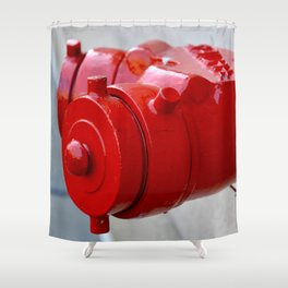 New York City Red Shower Curtain