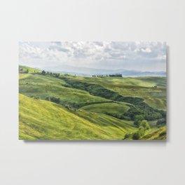 Tuscany Hills Metal Print